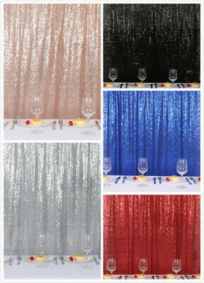 2ftx7ft Sequin Backdrop Sparkly Photo Background Curtain for Wedding Party Decor - Photo Decorations For Parties