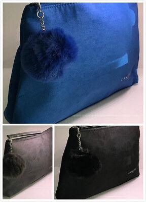 Lancome Cosmetic Makeup Clutch Bag W/ Removable Pom Pom ~ You Pickup