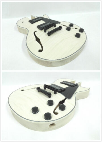 Semi-Hollow,NO-SOLDER Electric Guitar DIY,Set Neck,Maple Fretboard E-239 DIY-SMB