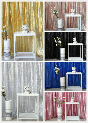 2x8FT Sequin Backdrop Sparkly Wedding Party Background Curtain Party Home - Curtain Background