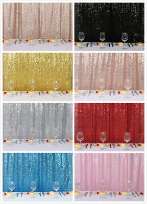 4x9Ft Background Sparkly Sequin Backdrop Photo Booth Wedding Party Curtain Decor](Photo Booth Curtains)