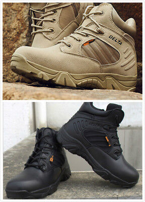 Desert Delta Force Military Boots Tactical Airsoft Hunting Outdoor Army Tan Men@ Tactical Military Boots