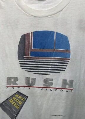 Vintage RUSH Power Windows Tour Official Concert T-shirt 1985 XL Ched By Anvil