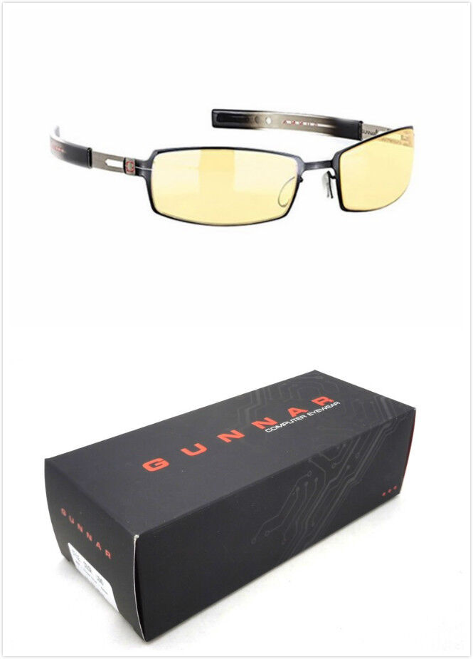 New Gunnar Optiks PPK-03001 PPK Glasses Onyx Mercury/Amber Computer Eyewear