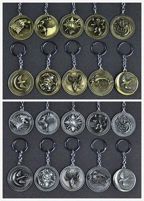 Game of Thrones Keyring Nine Houses Badges - Stark/Lannister/Targaryen Keychain
