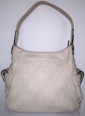 B MAKOWSKY Women's Shoulder Handbag Vanila Leather Medium