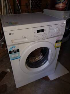 L.G 7.5kg front load washing machine with brand new carbon brushe