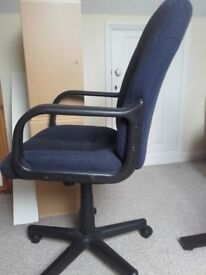 Navy/charcoal office swivel chair