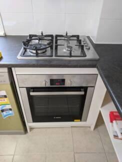 Bosch kitchen appliances (cooktop, oven, rangehood, dishwasher)