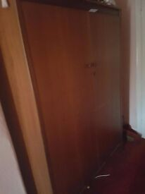 Antique wooden wardrobe in excellent condition, collection from Battersea