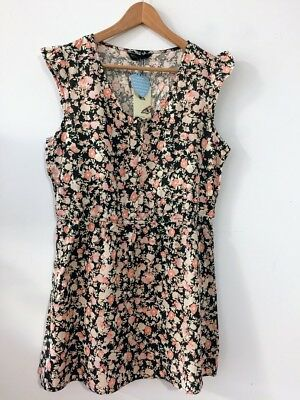 Plus Size Floral Midi Dress Tunic Sleeveless Shirt Beach Casual Vintage Boho ()