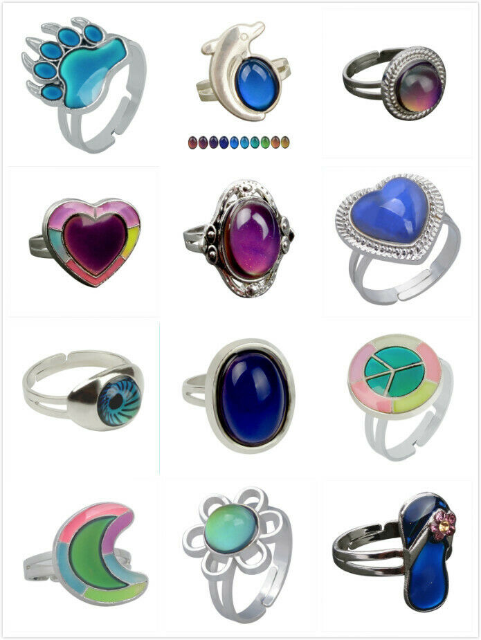 Color Change Mood Tracker Ring Emotion Feeling Changeable Te
