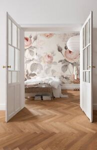 La Maison Wall Mural Floral Komar Decal Pink Grey Boho Contemporary  Wallpaper Part 61