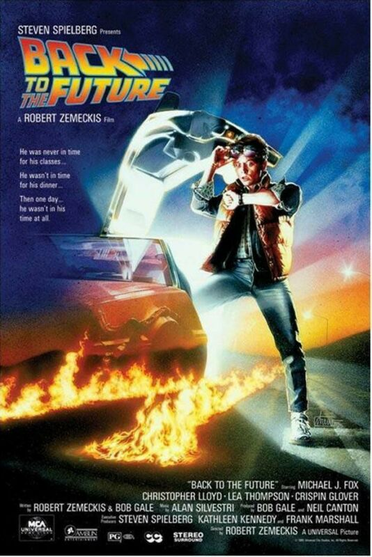 Back to the Future Movie Poster Michael J. Fox 24 x 36 FREE SHIPPING!