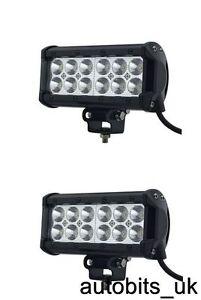 2-piezas-36w-12v-24v-LED-Reparacion-Foco-Luz-John-Deere-VALTRA-Fendt-gato