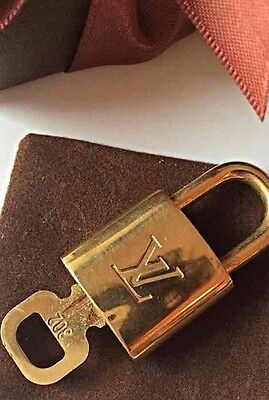 LOUIS VUITTON AUTH LOCK & KEY for Speedy Alma Keepall Boston - Fits all Bags!