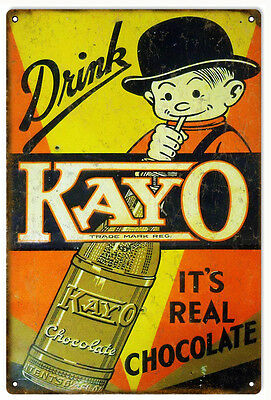 Drink Kayo Chocolate Country Advertisement Sign