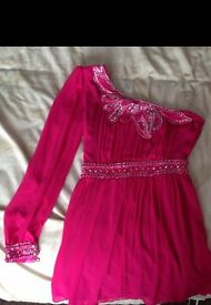 Pink Beaded Party Dress