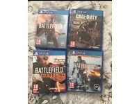 PS4 games. (Battlefield 1, battlefield 4, battlefield hardline & call of duty advanced warfare)