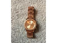 New ladies rose gold watch.