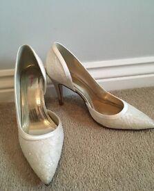 Ivory rainbow club bridal wedding shoes