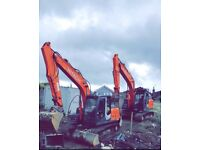 20 tonne and 13 tonne digger hire