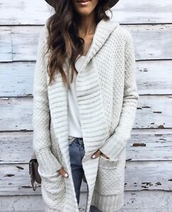 ABERCROMBIE & FITCH CHUNKY KNIT CARDIGAN-NEW!