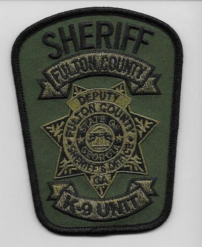 Fulton County Sheriff k9 k-9 Subdued Police State Georgia GA Green