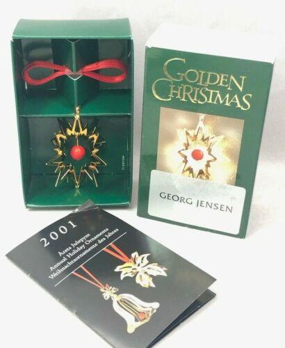 GEORG JENSEN Golden CHRISTMAS STAR ORNAMENT Denmark