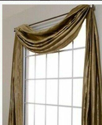 6 yards Bridal Satin Scarf Valance - Top Window Treatment (6 Yard Window Scarf Valance)