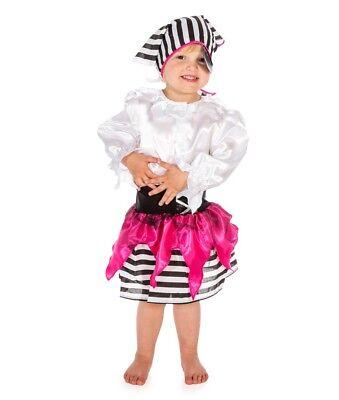 Mädchen Kinder Piraten Kostüm Halloween Buch Woche Pink Piraten-Party (Mädchen Rosa Piraten-kostüm)