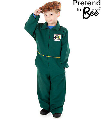 KIDS CHILDRENS GIRLS BOYS FARMER FANCY DRESS COSTUME & CAP OUTFIT AGE 3 4 5 6 7
