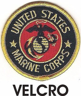 USMC Seal of US Marine Corps Patch VELCRO® BRAND Hook Fastener Compatible