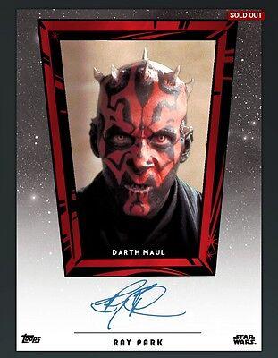 DIGITAL CARD Topps Star Wars Card Trader Ray Park Auto  DIGITAL AWARD CARD /437