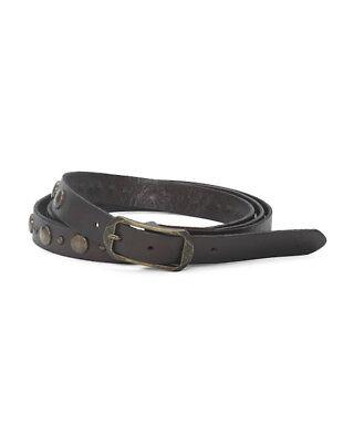 TRUE RELIGION Women's Brown Studded Double Wrap Leather Belt Sz 24 26 28 32 NWT