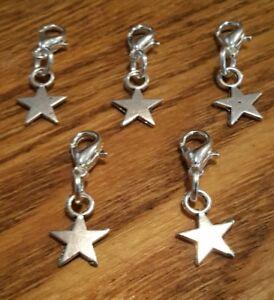 Stitch Markers Knitting Crochet Accessory Stars Charms needlecraft set of 5
