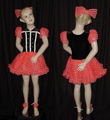 Lot of 3 BEAUTIFUL DOLL Tap Dance Costumes Child Large Fit Child Medium NEW