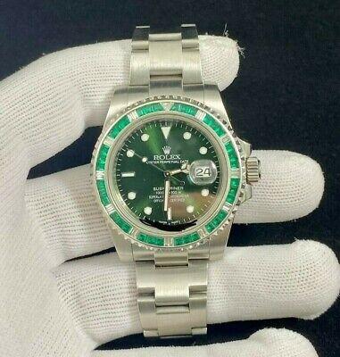 "Rolex Submariner Gem ""Hulk"" Stainless 116610 Automatic Mens Watch 116610LV"