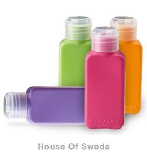 4 ikea 100ml plastic travel bottles shampoo soap liquid. Black Bedroom Furniture Sets. Home Design Ideas