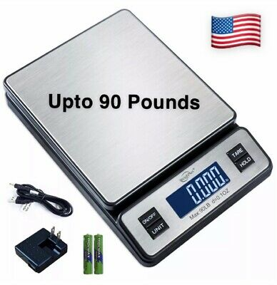 New Digital Weight Scale Mail Parcel Up To 90lbs Package Large Digital Display