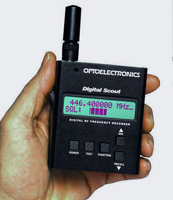 OPTOELECTRONICS DIGITAL SCOUT Digital & Analog Frequency Counter Recorder NEW