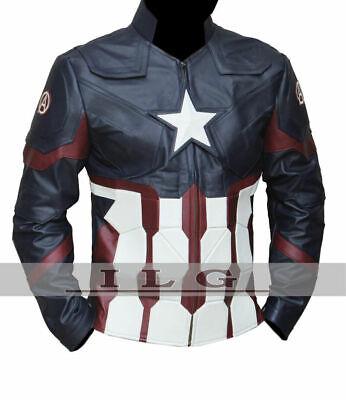 Marvel's Chris Evans Captain America Civil War Costume Leather Jacket](Leather Jacket Costume)