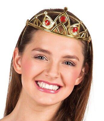 Krone Königin Meyra Prinzessin Edelsteine Gold rote Schmuckstein Fasching 167060
