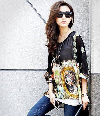 Summer Women Chiffon Blouse Loose Tops Casual Blouse Lady Fashion Shirt Hot Gift 1