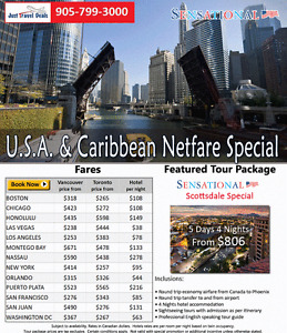 USA & Caribbean Cheap Tickets & Scottsdale Vacation Package Get