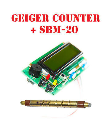 Geiger Counter Dosimeter Kit Assembled W Sbm 20 Tube Arduino Ide Compatible