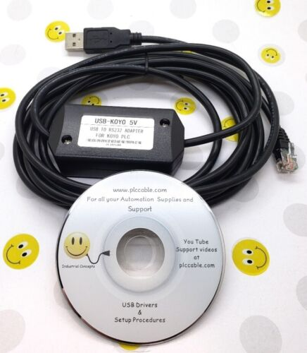 Automation Direct Koyo USB EA-MG-PGM-CBL Click Do-More C-More Micro HMI and PLCs