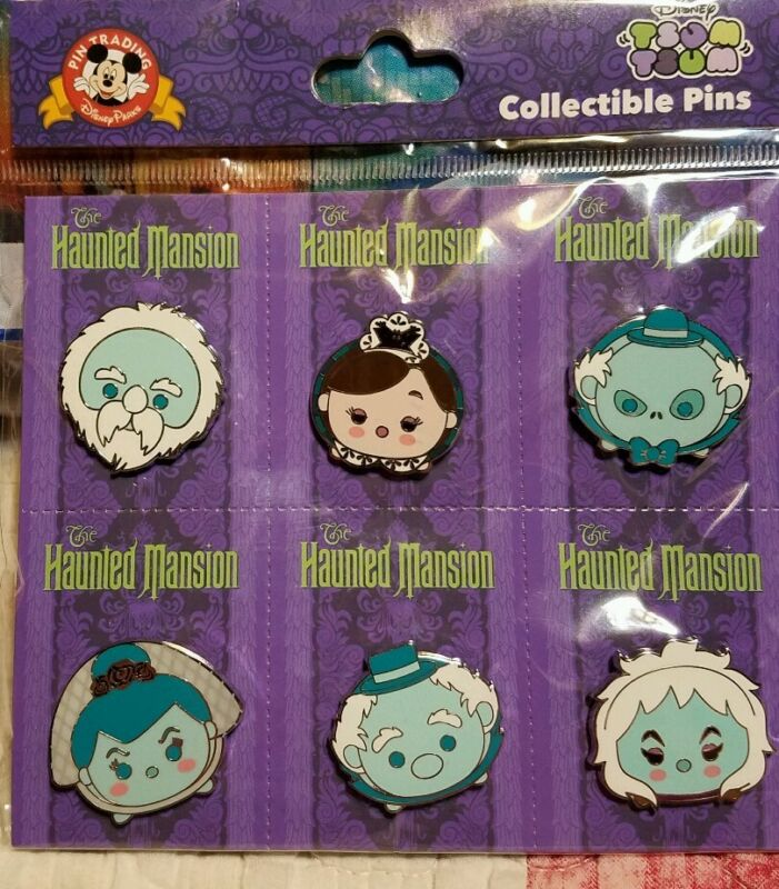Disney Pins Tsum Tsum  Haunted Mansion Booster 6 Pins  FREE SHIPPING