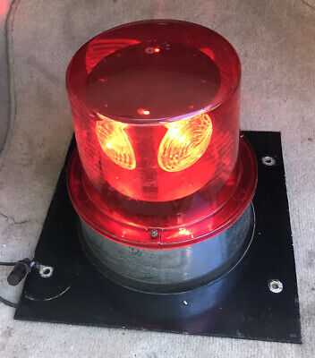 Vintage Kd Lamp Co 886 Large 8 Red Lens Emergency Light Beacon Works