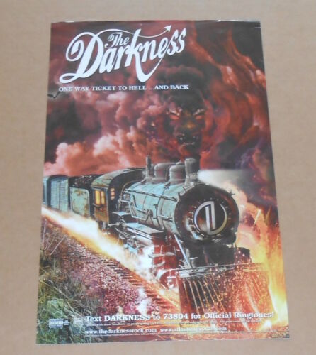 The Darkness One Way Ticket to Hell Poster Original 2005 Promo 11x17 (train)